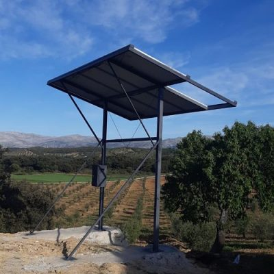 ejemplo de instalación de bombeo con energía solar en Granada